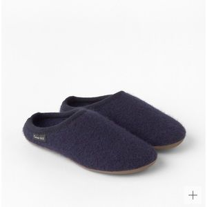 Garnet Hill x Haflinger boiled wool slippers clogs